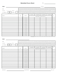 Basketball Score Sheets Basketball Score Sheet Template Excel Volleyball Stats Shee