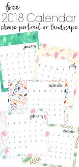 printable calanders free 2018 printable calendars refresh living