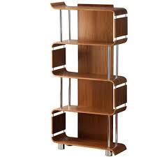 dark wood bookcase walnut  shelf rustic media storage
