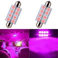 Purple Led Interior Dome Lights Cciyu 2 Pack Purple 42mm 8 5050 Smd Led Bulbs Festoon Dome Door Map Car Interior Lights 6429 212 2 214 2