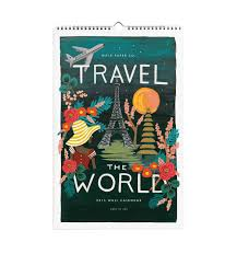 Travel Calendar 2015 Travel The World Wall Calendar By Rifle Paper Co Made In Usa