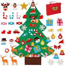 <b>OurWarm DIY</b> Felt Christmas Tree Set with 30pcs Glitter Ornaments ...