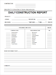 24 Daily Construction Report Templates Pdf Google Docs