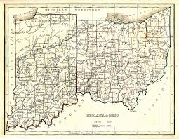 the usgenweb archives digital map library ohio state maps Monroe County Ohio Road Map indiana and ohio road map of monroe county ohio