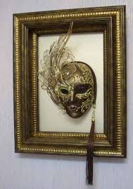 Decorative Masquerade Masks Modern Wall Decoration with Venetian Masks Made for a Masquerade 44