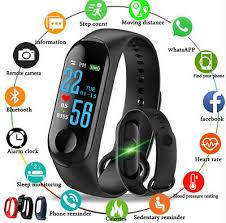 m3 smart bracelet band wristbands fitness tracker health heart rate monitor bluetooth smartwatch sport watch