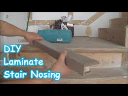 Engineered hardwood flooring in 2021. Laminate Stairs Installation How To Make Stair Nosing Yourself Tips Mryoucandoityourself Youtube