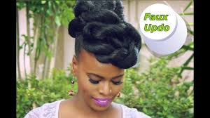 Quick Easy Faux Updo Natural Hair Protective Style Youtube