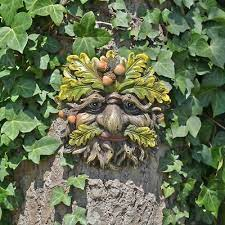 tree ent face wall plaque large garden