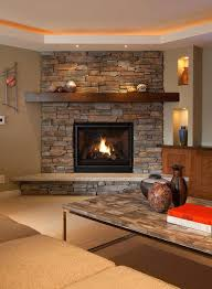 gas fireplace interior wall high vertical gray double sided gas