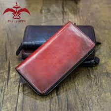 all good in wallet 1 pc venezia patina leather red grey brown chocolate navy wallet for man lady purse custom make logo name