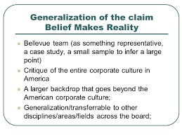 "belief makes reality"" by charles p clark essays essays ppt  3 generalization"