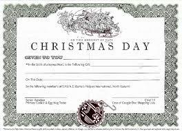 Printable Christmas Certificates Certificate Template Awesome Christmas Gift Certificate Templates 83