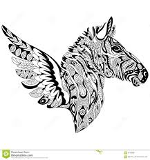 Small Picture Zebra Adult Coloring Page Stock Illustration Image 69518585