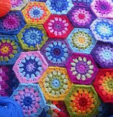 Hexagon Crochet Pattern Delectable Happy Hexies 48 Free Crochet Hexagon Patterns Moogly