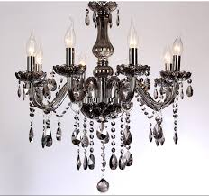 5 6 light led k9 crystal chandelier modern lights smoke gray living room chandelier crystal lamp