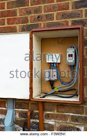 a domestic fuse box england stock photo royalty image external meter box sturminster newton dorset england uk stock photo