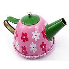 AZ Trading Import <b>Metal Teapot</b> and Cups Kitchen Playset (<b>Flower</b> ...
