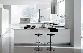 interior design kitchen white. Contemporary U Shaped Kitchen Design Interior White