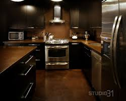 Dark Kitchen Floors Kitchen Contemporary Dark Kitchen Cabinet With Stainless Kitchen