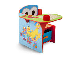 chair with storage. delta children sesame street chair desk with storage bin right side view a1a