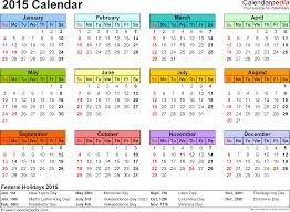 2015 Calendar Pdf 16 Free Printable Calendar Templates For Pdf