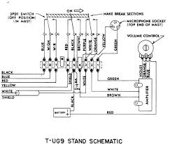 astatic d 104 microphones D 104 Wiring t ug9 stand