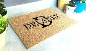 best outdoor area rug material personalized front door mats super duper customized doormat do