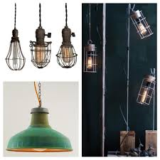 industrial chic lighting. Right: Modern Industrial Light Design By The Homeport Collections. Left: Vintage Cage Lights And Copper Shade From Historic Lighting. Chic Lighting N