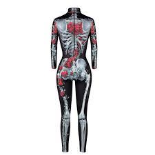 Women Skeleton <b>Bone</b> Frame Jumpsuit Bodysuit Fancy Dead ...