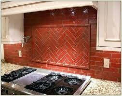decoration red and blue glass tile backsplash tiles for kitchen brick