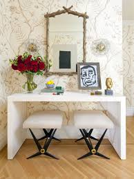 contemporary entryway furniture. contemporary medium tone wood floor and brown entryway idea in new york with beige walls furniture