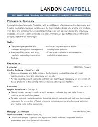 Best Podiatrist Resumes | Resumehelp