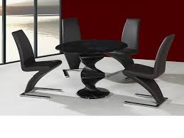 Round glass dining table Luxury Round Twirl Glass Dining Table And Chairs In Black Set Tables Top Hayneedle Round Twirl Glass Dining Table And Chairs In Black Set Tables Top