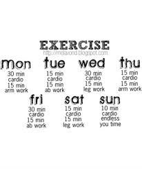 If I Make Myself A Workout Plan A Week On Paper I Think