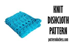 Free Easy Knitting Patterns Custom Knit Dishcloth Free Pattern Pattern Duchess