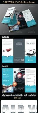 Auto Detailing Flyer Template Car Wash 3 Fold Brochure Ideas ...
