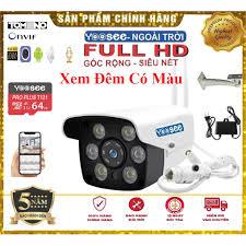 Camera Yoose 6 mắt 1080p 2 râu xem đêm có màu chống nước bảo hành 5 năm  chính hãng lỗi đổi mới - Hệ thống camera giám sát Thương hiệu Yoosee
