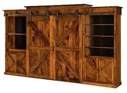 Image Is Loading AmishRusticWallUnitEntertainmentCenterSlidingBarn Rustic Entertainment Center A96