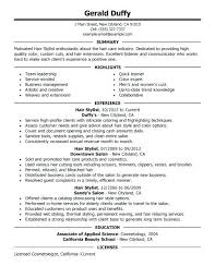 Assistant Hair Stylist Fashion Stylist Resume Samples Hairdresser ...