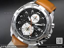 casio edifice chronograph genuine leather band mens watches efr 539l 1bv efr539l watches casio nz watches