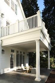 How can I build the covered porch with a balcony on top and the best  solution for waterpfoof the balcony floor