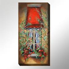red canopy canvas wall art multi warm