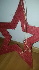 Stern Rot Weihnachten Fenster Deko Tür Bast