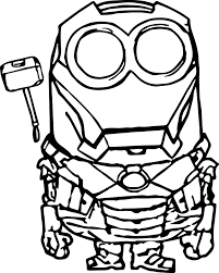 Small Picture Coloring Pages Kids Robot Minion Coloring Page Robot Coloring