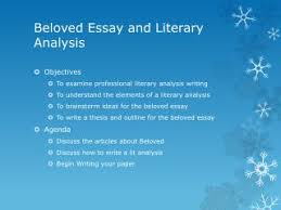 ppt beloved powerpoint presentation id  beloved essay and literary analysis