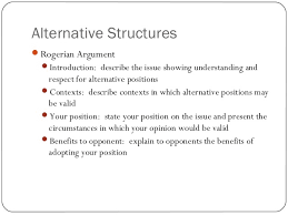 english structuring your essay  13 alternative structures rogerian argument