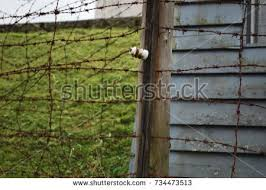 barbed wire fence concentration camp. Barb Wire Fence At Concentration Camp - World War Two Nazi Jewish Barbed R