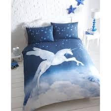 portfolio unicorn duvet cover set blue double g t s original warehouse