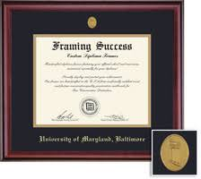 diploma frames university of maryland baltimore bookstore framing success classic diploma double mat in rich burnished cherry finish